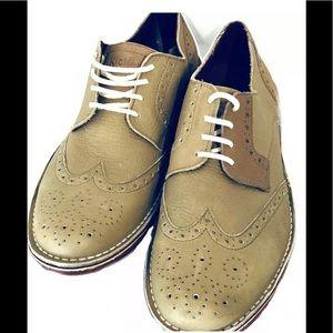 Kickers Mens Shoes Urbania Derby Lace Brogue Beige